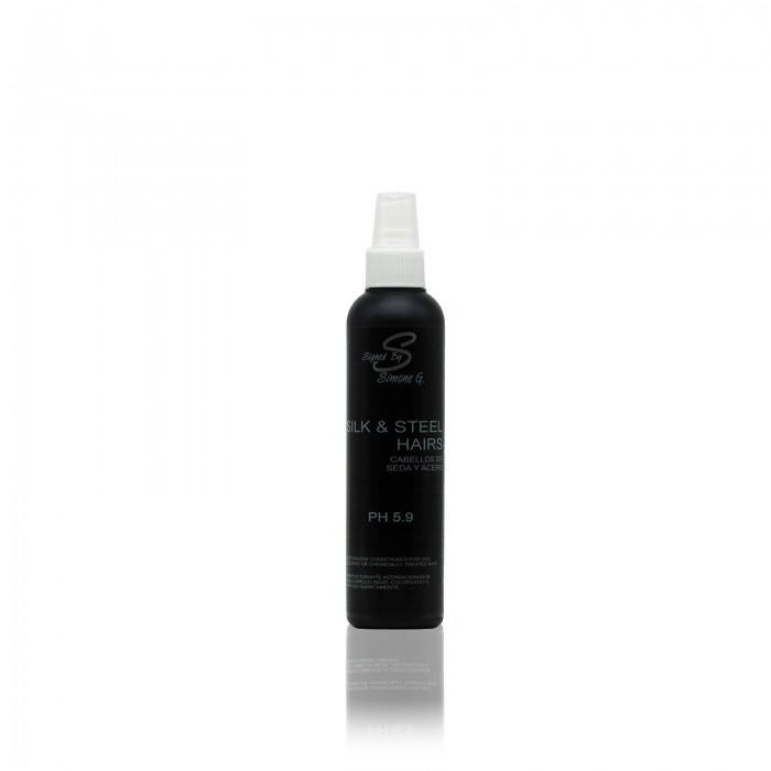 Reestructurante acondicionador para cabello seco, coloreado o tratado químicamente