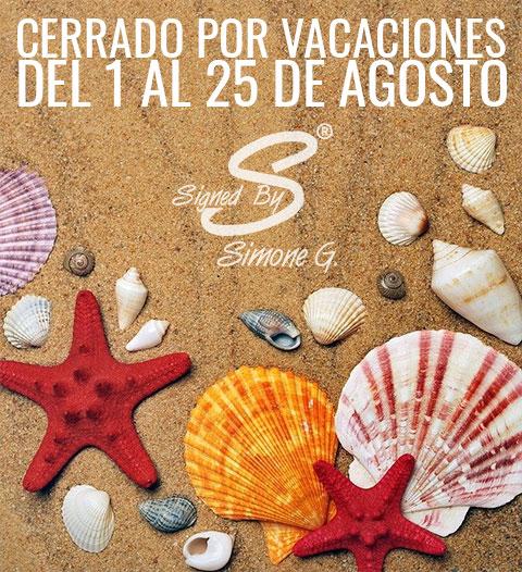 Cerramos por vacaciones del 1 al 25 de agosto